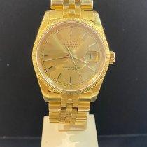 Rolex Datejust Or jaune 36mm Blanc France, Menton