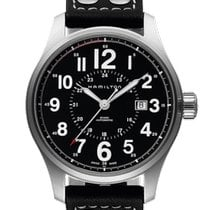 Hamilton Automatic Black 44mm new Khaki Field Officer