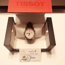 Tissot Couturier pre-owned 41mm White Chronograph Date Annual calendar Leather