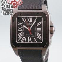 Cartier Automatik Schwarz 38mm gebraucht Santos 100