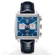 TAG Heuer Monaco Calibre 12 Steel 41mm Blue No numerals