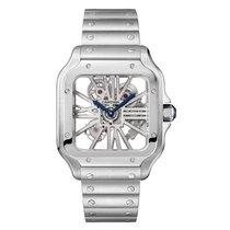 Cartier Santos (submodel) nuevo 2020 Automático Reloj con estuche y documentos originales WHSA0015