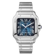 Cartier Santos (submodel) neu 2020 Automatik Uhr mit Original-Box und Original-Papieren WSSA0030
