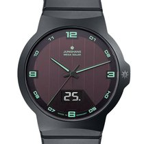 Junghans Force Mega Solar Ceramika 40.4mm Brązowy Arabskie