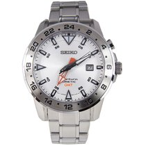 Seiko Sportura Steel 44mm White No numerals
