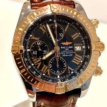 Breitling Chronomat Evolution gebraucht 44mm Schwarz Chronograph Datum Krokodilleder