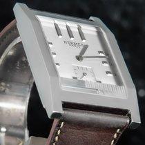 Hermès Tandem Stal 40mm Srebrny Bez cyfr