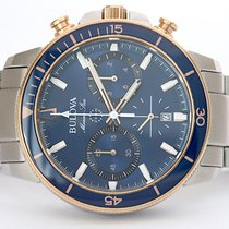 Bulova Marine Star Acero 45mm Azul