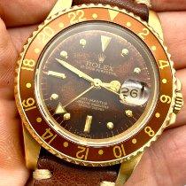 Rolex GMT-Master Gelbgold 40mm Braun Keine Ziffern