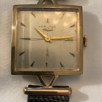 Hamilton Yellow gold Manual winding Grey No numerals 27mm pre-owned
