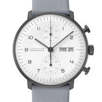 Junghans max bill Chronoscope Stal 40mm Biały