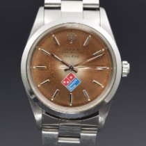Rolex Air King Precision Staal 34mm Bruin