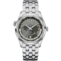Hamilton Jazzmaster GMT Auto Steel 42mm Grey Arabic numerals United States of America, Massachusetts, Florence