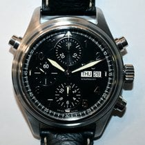IWC Pilot Double Chronograph Acero 42mm Negro España, Madrid