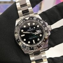 Rolex Steel Automatic Black No numerals 40mm pre-owned GMT-Master II