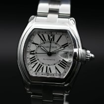 Cartier Roadster Steel 42mm Silver Roman numerals United States of America, New Jersey, Long Branch