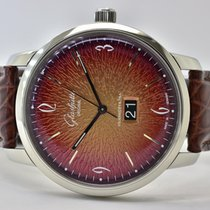 Glashütte Original Sixties Panoramadatum Stahl 42mm Orange Arabisch Deutschland, Iffezheim