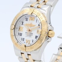 Breitling Galactic 30 Gold/Steel 30mm Mother of pearl Roman numerals