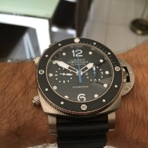 Panerai Luminor Submersible 1950 3 Days Automatic usados 47mm Negro Función flyback Caucho