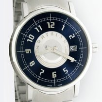 Montblanc Summit pre-owned 38mm Blue Date Steel