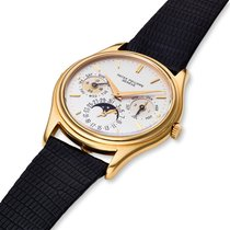 Patek Philippe Perpetual Calendar Yellow gold 36mm Silver United States of America, Massachusetts, Chatham
