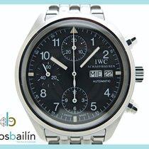 IWC Pilot Chronograph Acero 39mm Negro Arábigos España, Huesca