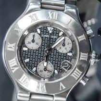 Cartier 21 Chronoscaph Steel 38mm Black No numerals