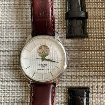 Tissot Tradition rabljen 40mm Srebro Koza