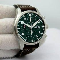 IWC Pilot Chronograph Acero 43mm Verde Arábigos