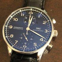 IWC Portuguese Chronograph Acero Negro Arábigos