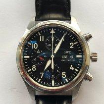 IWC Pilot Chronograph Acero 42mm Negro Arábigos