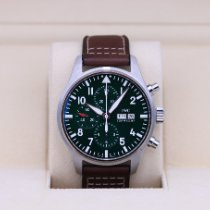 IWC Pilot Chronograph Steel 43mm Green Arabic numerals United States of America, Tennesse, Nashville