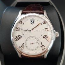 Edox Les Bémonts nuevo 2020 Automático Reloj con estuche y documentos originales 47001-3-ABN