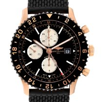 Breitling Chronoliner Rose gold 46mm Black