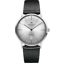 Hamilton Intra-Matic Steel 42mm Silver No numerals United States of America, Massachusetts, Florence