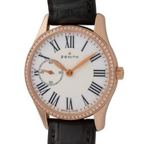 Zenith Rose gold Automatic White Roman numerals 33mm pre-owned Elite Ultra Thin