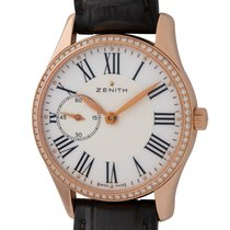 Zenith Elite Ultra Thin Oro rosa 33mm Blanco Romanos