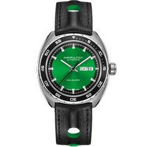 Hamilton Pan Europ Steel 42mm Green No numerals United States of America, Massachusetts, Florence