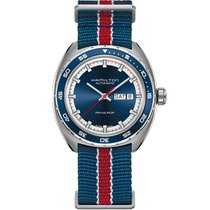 Hamilton Pan Europ Steel 42mm Blue No numerals United States of America, Massachusetts, Florence