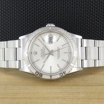 Rolex Datejust Turn-O-Graph Stahl 36mm Silber