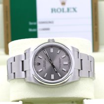 Rolex Oyster Perpetual 36 Acero 36mm Gris Arábigos