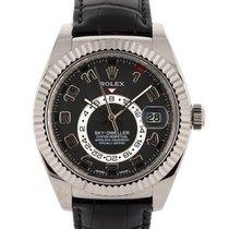 Rolex Sky-Dweller Witgoud 42mm Zwart
