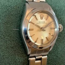 Rolex Oyster Perpetual Acero 25mm Plata Sin cifras