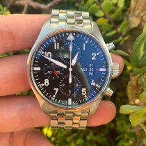 IWC Pilot Chronograph Steel 43mm Black Arabic numerals United States of America, California, Los Angeles