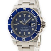 Rolex Submariner Date Or blanc Bleu