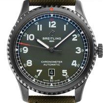 Breitling Aviator 8 Сталь 41mm Зеленый Aрабские