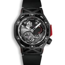 Hublot Techframe Ferrari Tourbillon Chronograph Carbono 45mm Preto