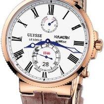 Ulysse Nardin Pозовое золото Белый новые Marine Chronometer 43mm