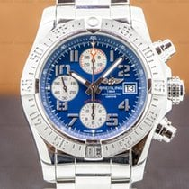 Breitling Avenger II Steel 43mm Blue Arabic numerals United States of America, Massachusetts, Boston