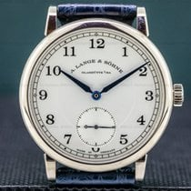 A. Lange & Söhne 1815 White gold 38.5mm Silver Arabic numerals United States of America, Massachusetts, Boston